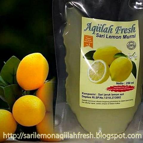Aqiilah Fresh Sari Lemon Murni Kemasan Pouch 250 ml