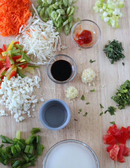 Spusht | Ingredients for Manchow Soup