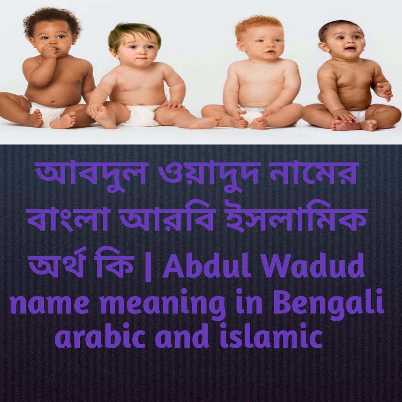 আবদুল ওয়াদুদ নামের অর্থ কি, আবদুল ওয়াদুদ নামের বাংলা অর্থ কি, আবদুল ওয়াদুদ নামের ইসলামিক অর্থ কি, Abdul Wadud name meaning in Bengali, আবদুল ওয়াদুদ কি ইসলামিক নাম,