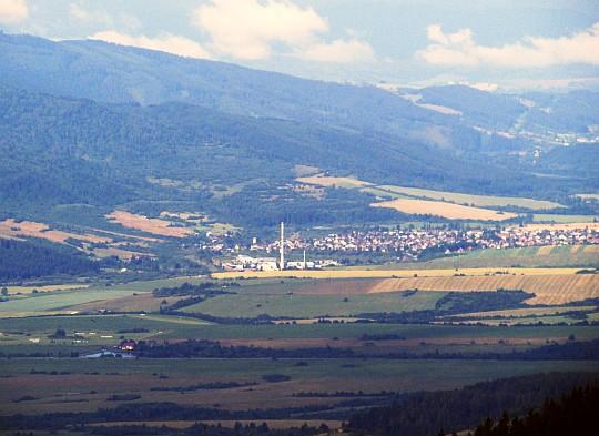 Zbliżenie na wioskę Nemecká.