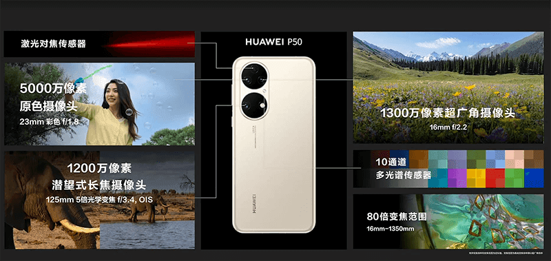 Huawei P50 cameras