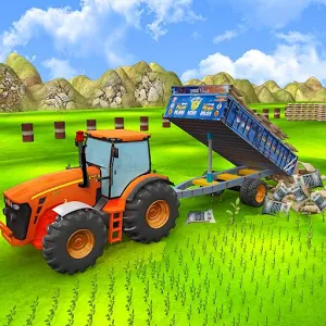 Real Tractor Trolley Cargo Transport 3D Game MOD APK