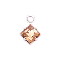 Swarovski Xilion Square Fancy Crystal (Topaz - NOVEMBER)