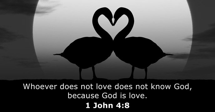 Whoever does not love does not know God, because God is love.