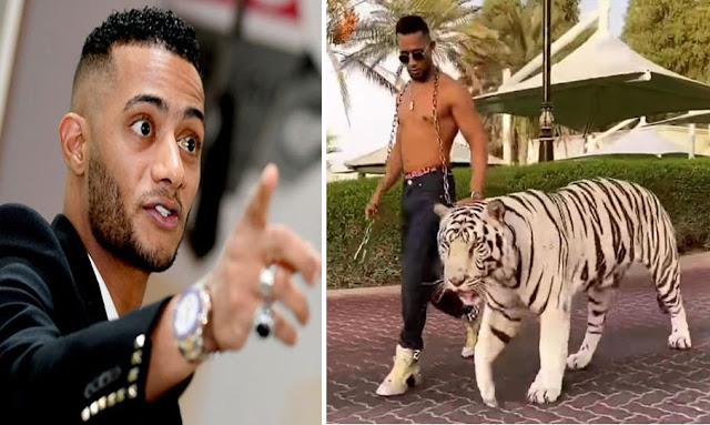 محمد رمضان برفقة نمر mohamed ramadan instagram tiger