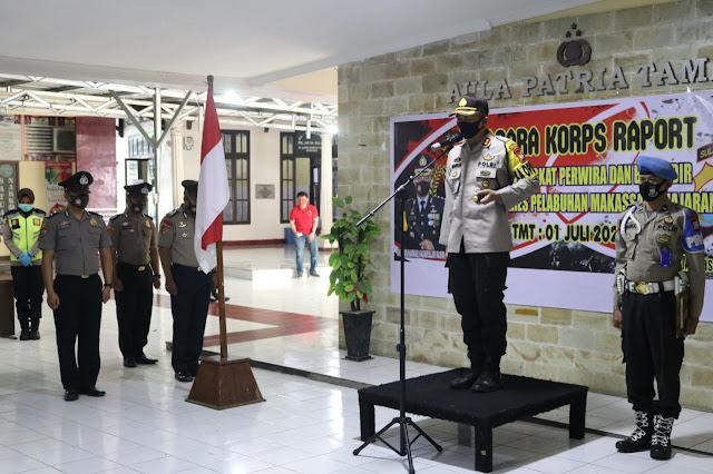 AKBP M Kadarislam Pimpin Upacara Kenaikan Pangkat Personel Polres Pelabuhan