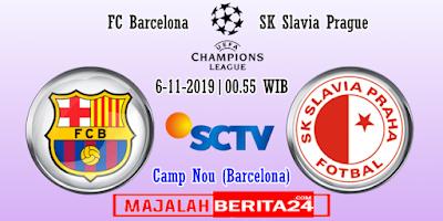 Prediksi Barcelona vs Slavia Praha — 3 November 2019