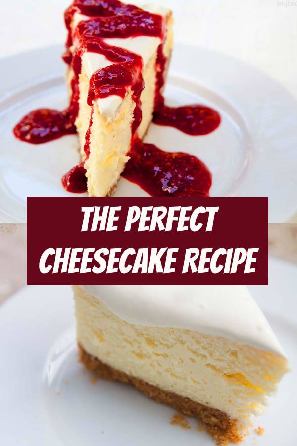 This is a classic New York cheesecake, baked in the oven. A water bath, plus lots of tips and guidance, help you make the best, silkiest, creamiest cheesecake EVER. #cheesecake #bestrecipe #easycheesecake #cheesecakerecipe