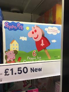 peppa pig ice lollies