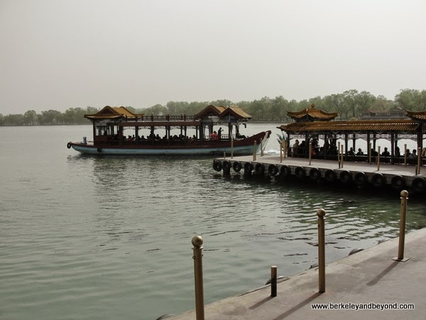 boat ride at Summer Palace in Beijing, China