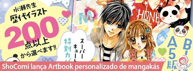 ShoComi lança Artbook personalizado de mangakás