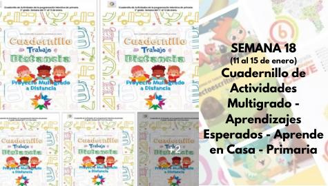 SEMANA 18  Cuadernillo de Actividades Multigrado