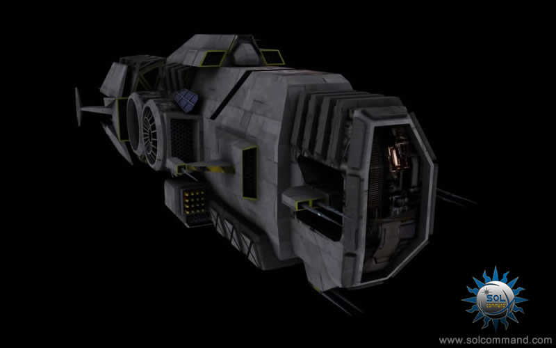 Guerilla warship space ship 3d model free download original design solcommand destroyer cruiser border patrol pirate smuggler warship combat command control battlefield scifi futuristic