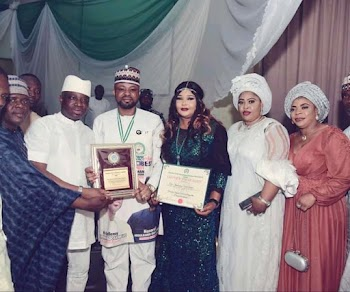 LOGMA 2021: HON OHIARE EXPRESSES THANKFULNESS TO GOVERNOR YAHAYA BELLO AS HE WAS CONFERRED WITH THE NATIONAL AWARD ON SECURITY.