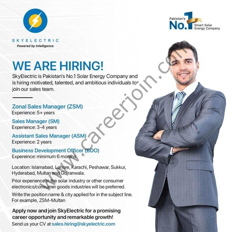 Sky Electric Pvt Ltd Jobs August 2021