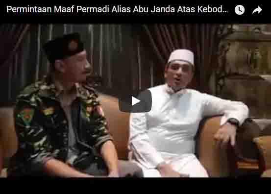 [Vidio]: Minta Maaf, Abu Janda Sengaku Salah, Ia Mengaku Hadist yang Dipelajarinya Palsu (Dhoif)