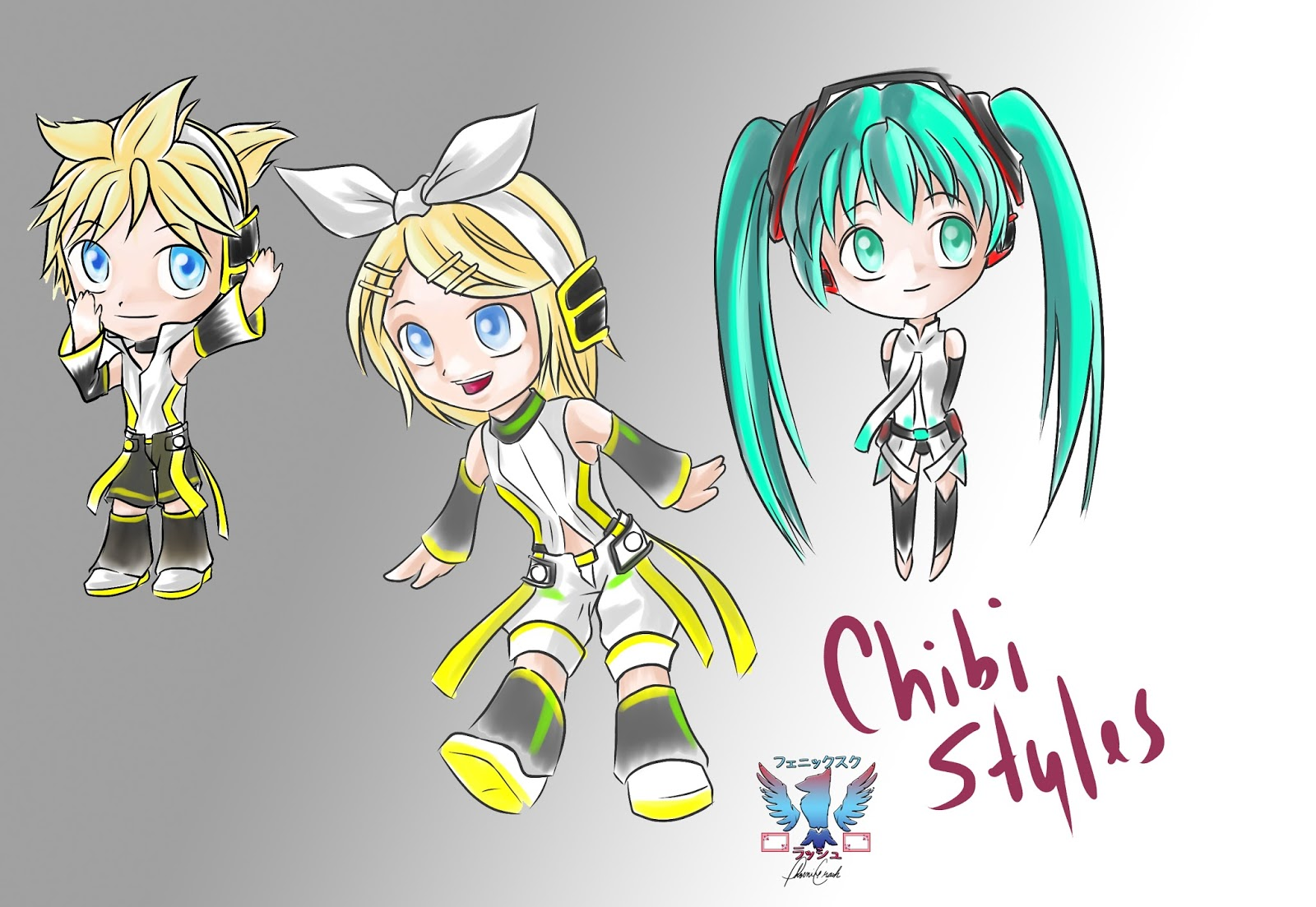 It's just a photo of Adorable Chibi Style Drawing