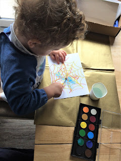 child painting with water colour resistance