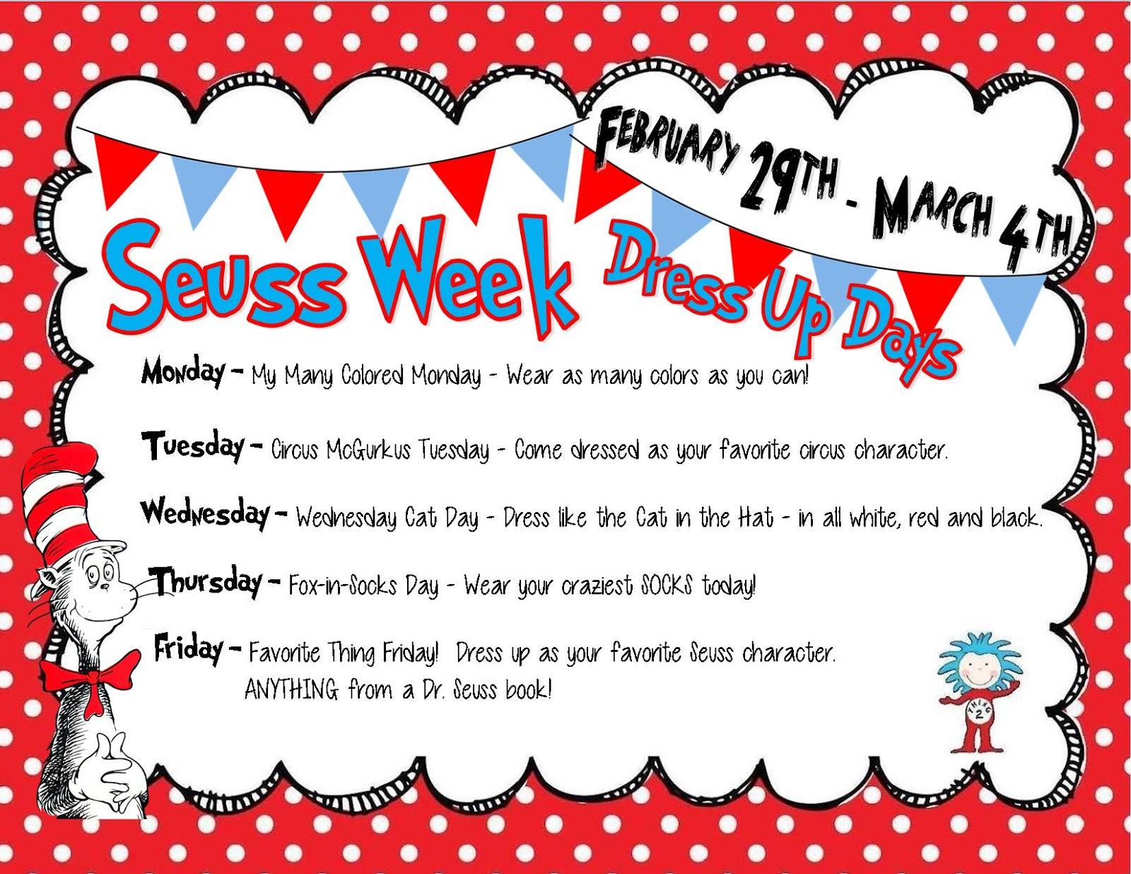 Dr Seuss Dress Up Week