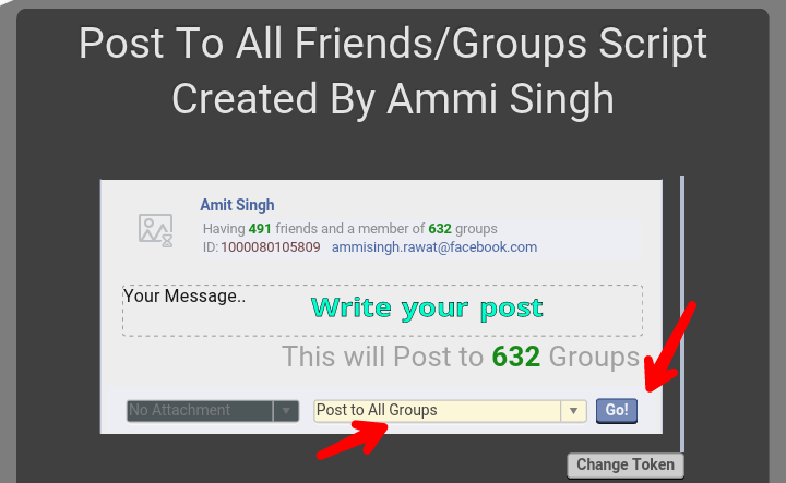 Facebook Group Auto Poster 2018: One Click Se All Groups Me Post