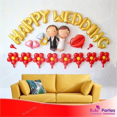 Set bóng trang trí phòng cưới HPWD06