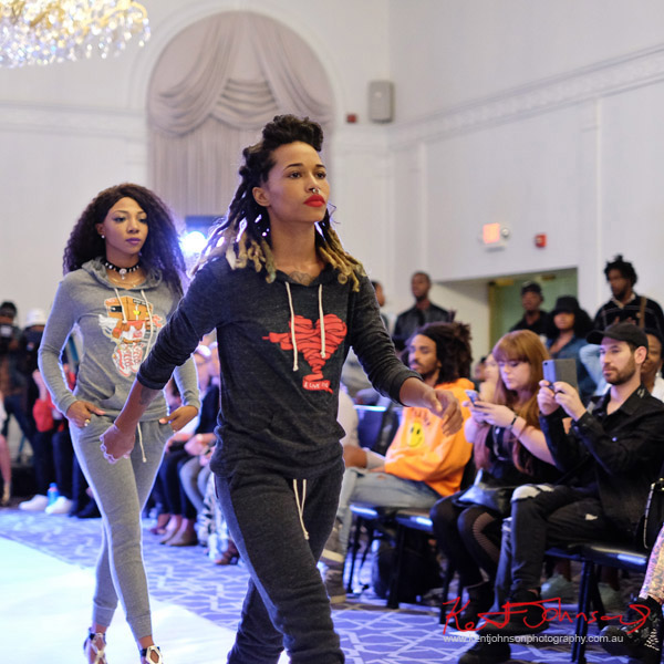 Womens tracksuits,   Streetwear Label Solemates Apparel at Bracé NYFW. Photographed by Kent Johnson.