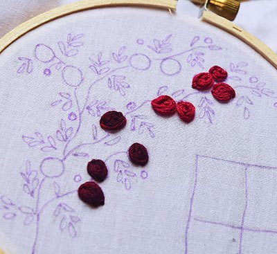 Hướng dẫn thêu hoa hồng leo - Hình 7
