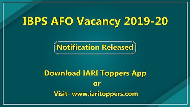 IBPS AFO Vacancy Notification 2019 - Exam Date, Syllabus