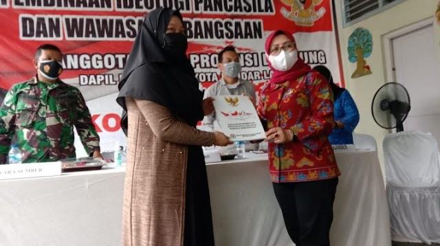 Anggota DPRD Lampung Gelar Sosialisasi Perda di Kecamatan Kedaton
