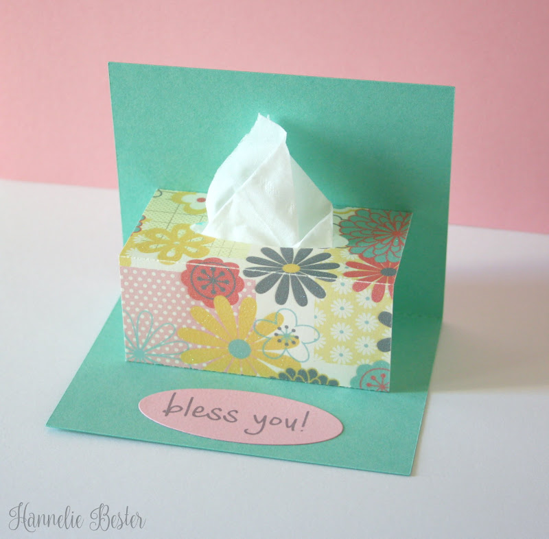 tissue box popup card