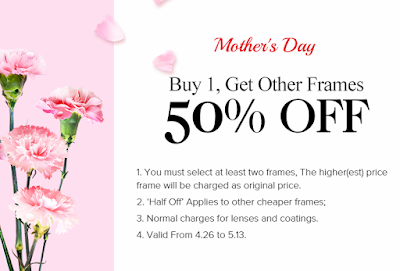 buy 1 get other frames for 50%
