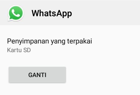 cara setting penyimpanan whatsapp otomatis ke sd card