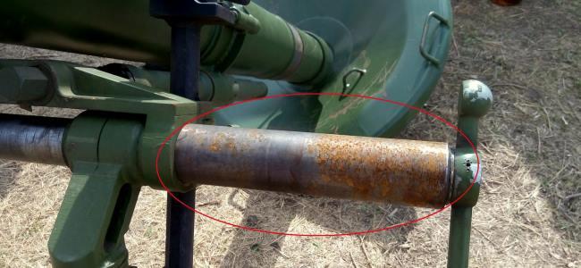 Заборонені для екплуатації міномети Молот ремонтують