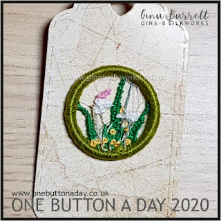 One Button a Day 2020 by Gina Barrett - Day 180: Verge