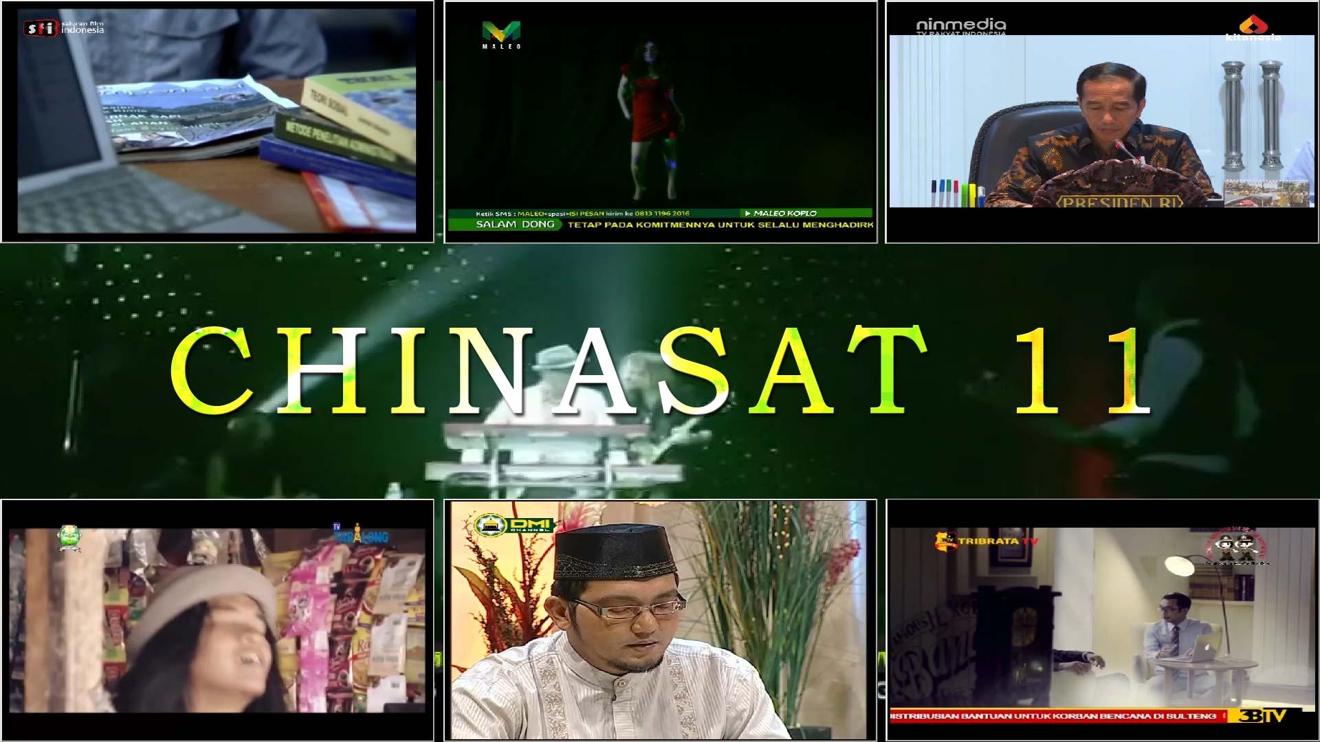 Daftar Channel Chinasat 11 Siaran Satelit Ku Band Terbaru