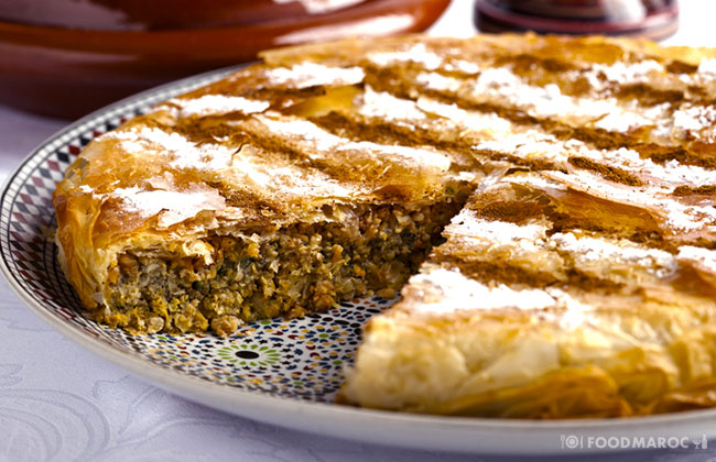 Moroccan pastilla with chicken