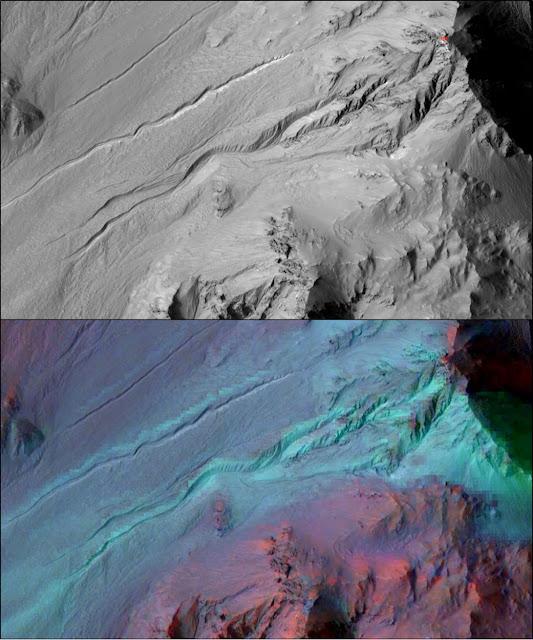 canais em Marte - espectrômetro