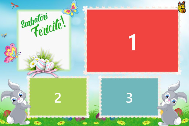 Free photo booth template for Easter 2020