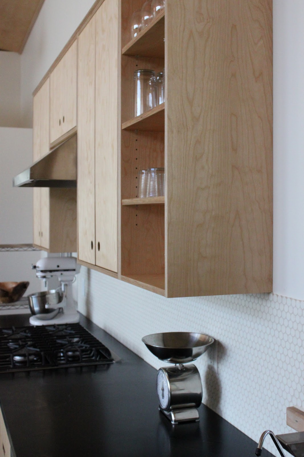 Penny Tile Backsplash Kitchen Costco Sink The Little Forest House March 2011