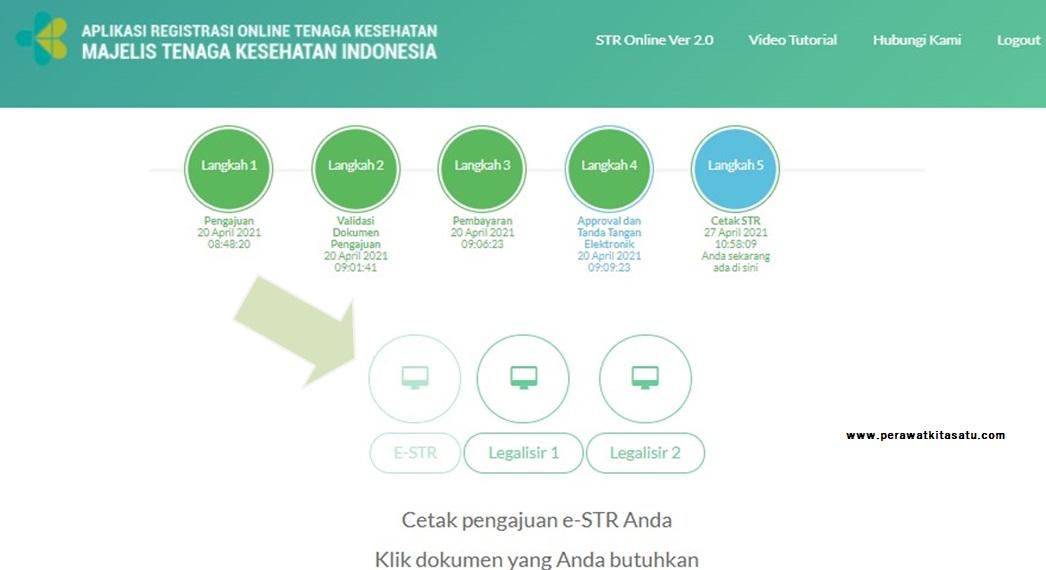 cetak dokumen e-STR maupun legalisir STR