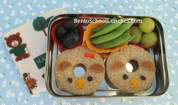 Bear donuts, Bento School Lunches