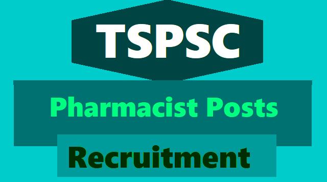 tspsc pharmacist recruitment 2018,pharmacist online application form,pharmacist hall ticets,pharmacist results certificates verification date,pharmacist selection list results