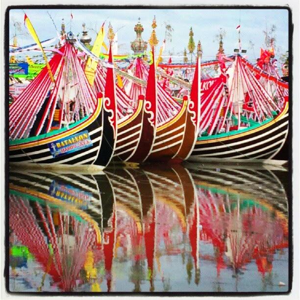 perahu slerek nelayan muncar banyuwangi