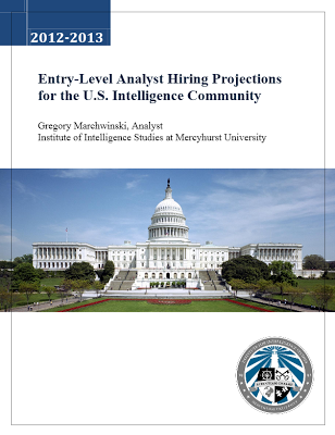 2nd Annual Mercyhurst Report On Hiring Prospects For Entry Level Intelligence Analysts In The National Security Community Is Out! (And It Is Not Pretty...)