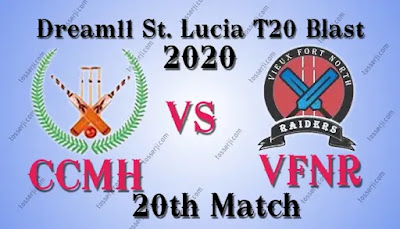 Who will win CCMH vs VFNR 20th T10 Match