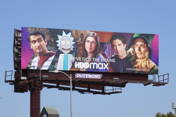HBO Max Weve got Brains billboard