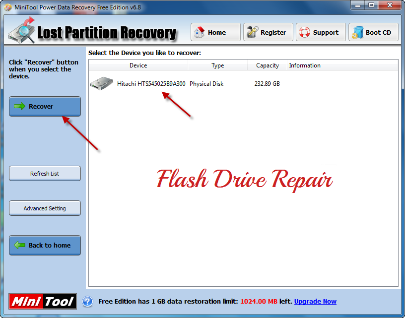 How to recover lost partition by using minitool power data recovery