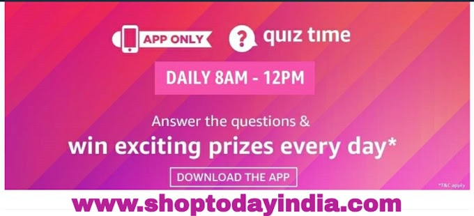 Amazon Great Indian Sale Quiz Answer and Win Rs. 25000