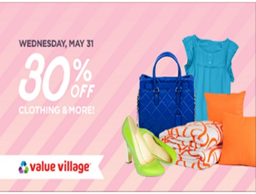 Value Village 30% Off Clothing & More