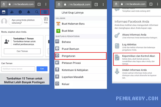 Cara Menghapus Akun Facebook Permanen Lewat Browser